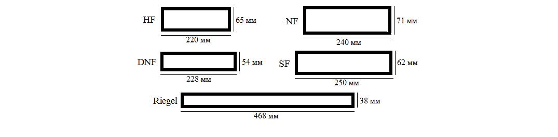 Форматы фасадной плитки Randers Tegl